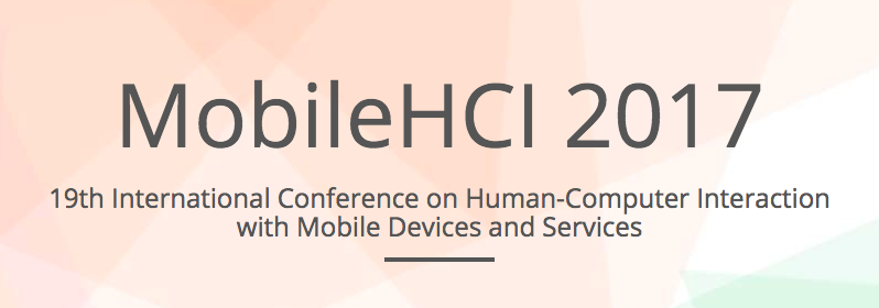 MobileHCI 2017 - Wien