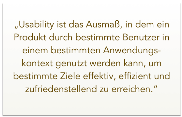 Definition Usability – DIN EN ISO 9241