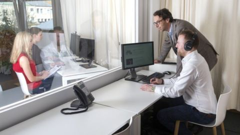 Usability lab in-house usability tests