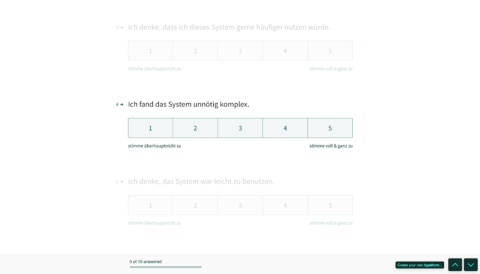 SUS System Usability Scale UX messbar machen