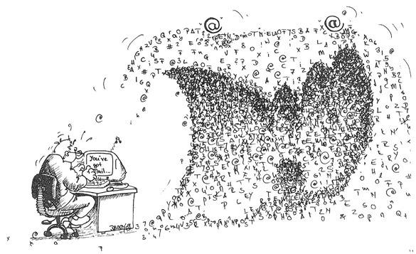 Das Datenmonster droht, den Researcher aufzufressen.