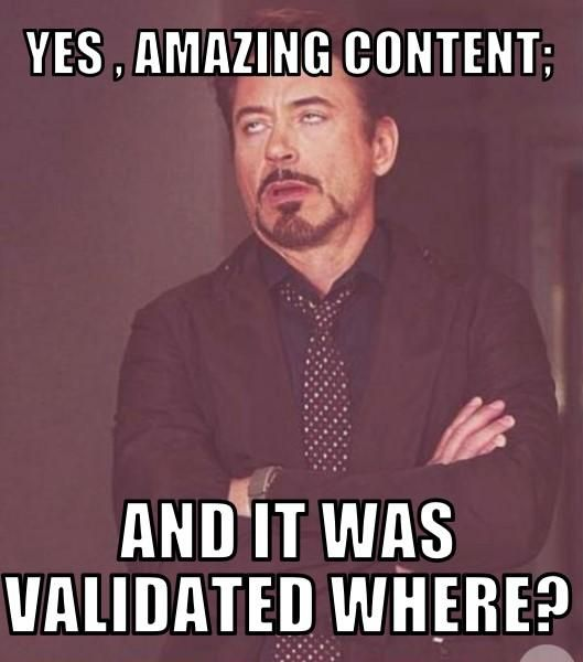 Content Strategy validated