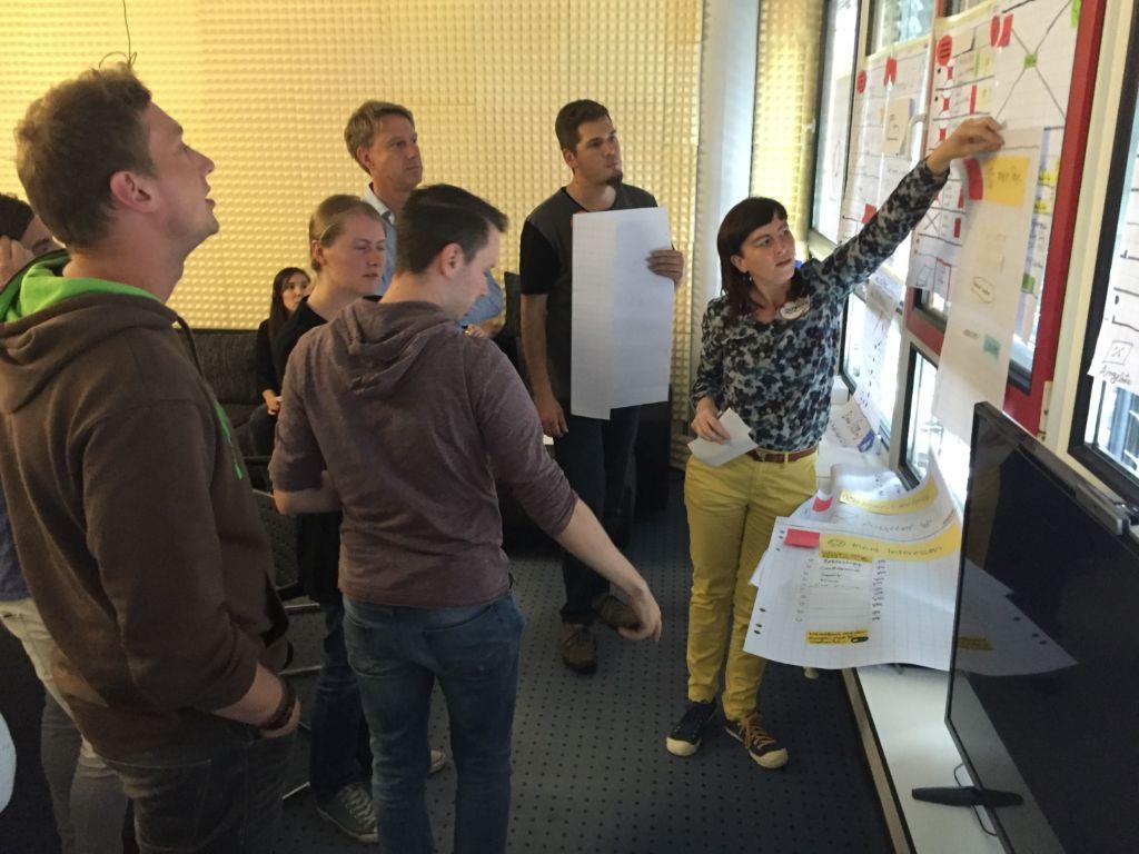 Szene aus einer interaktiven Test-Sitzung mit mehreren Teilnehmern