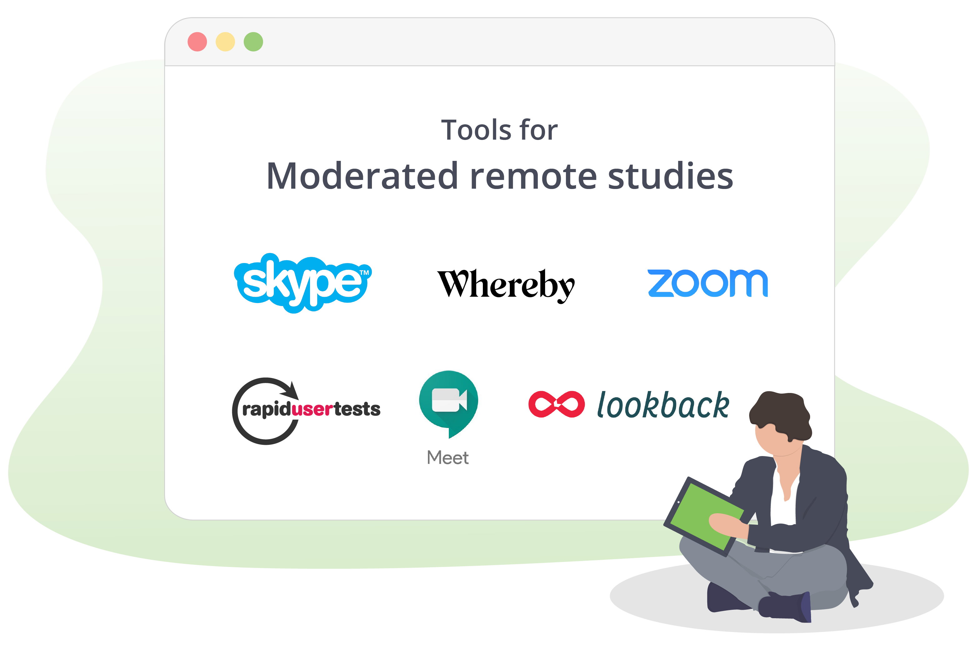 Tools for moderated remote studies