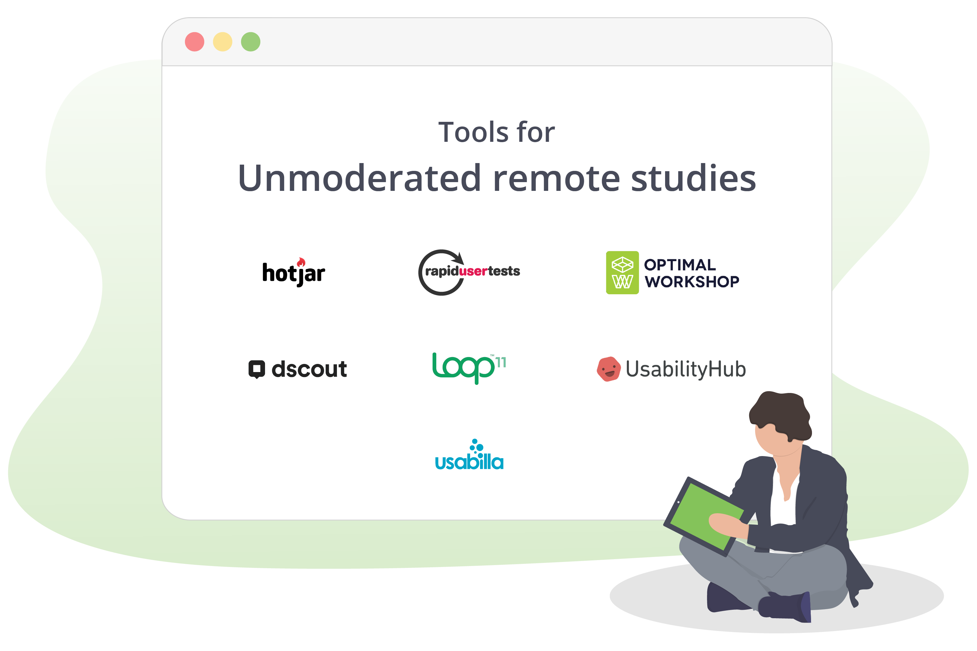 Tools for unmoderated remote studies