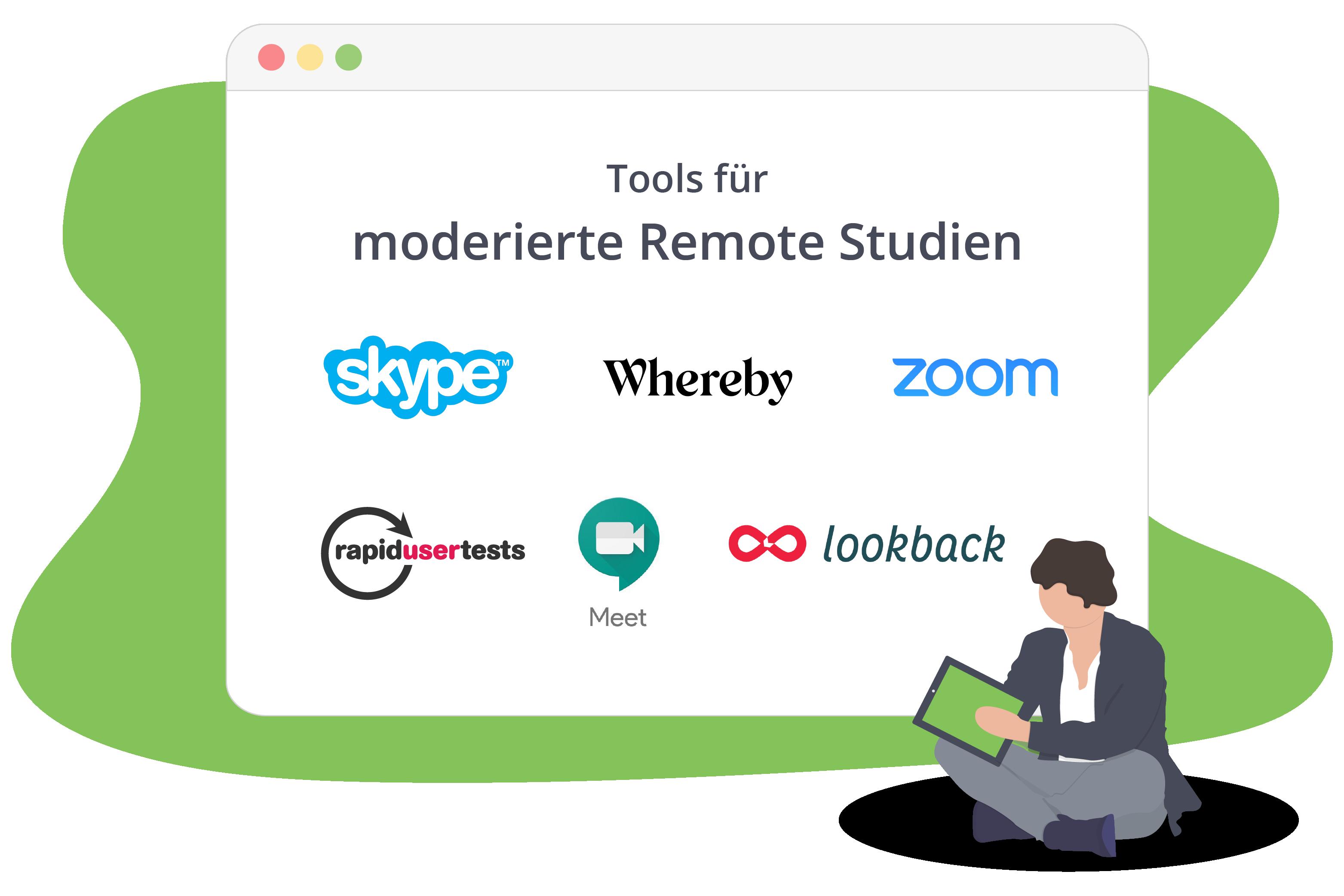 Tools für moderierte Remote Studien