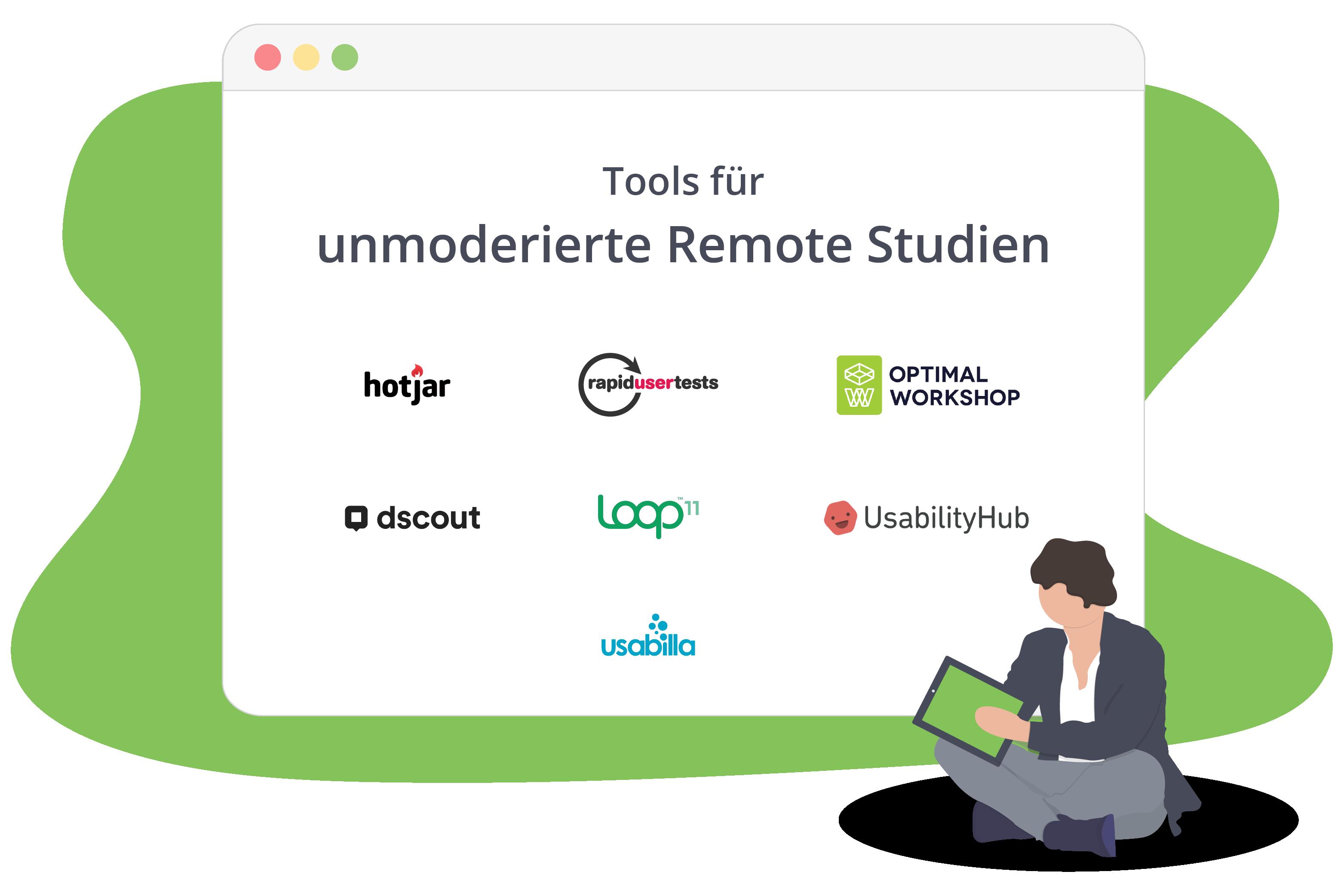 Tools für unmoderierte Remote Studien