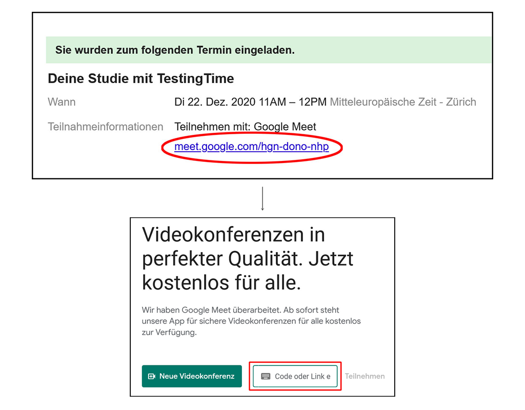 Google Meet Anleitung