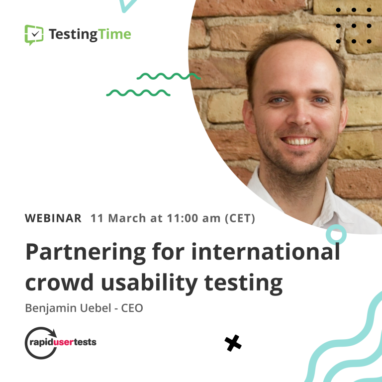 Webinar TestingTime and RapidUsertests