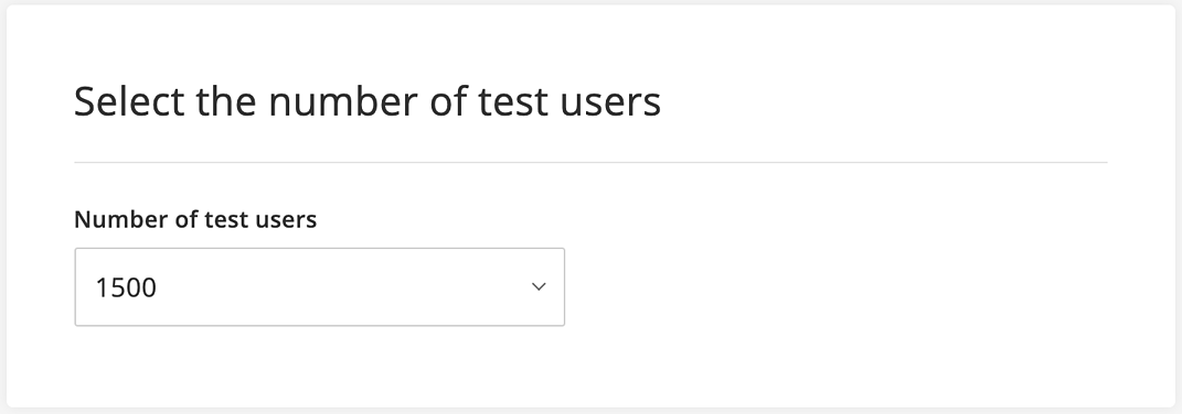 1500 test users