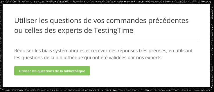 Reuse questions FR